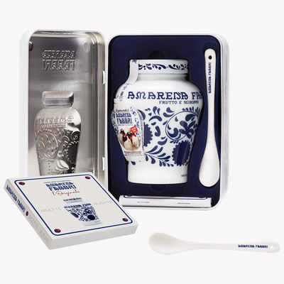 Gift Box Amarena Fabbri   (1 Amarena 600g jar, 1 ceramic spoon, 1 recipes book )